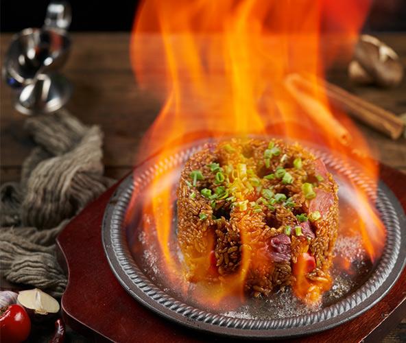 冒火牛肉炒饭